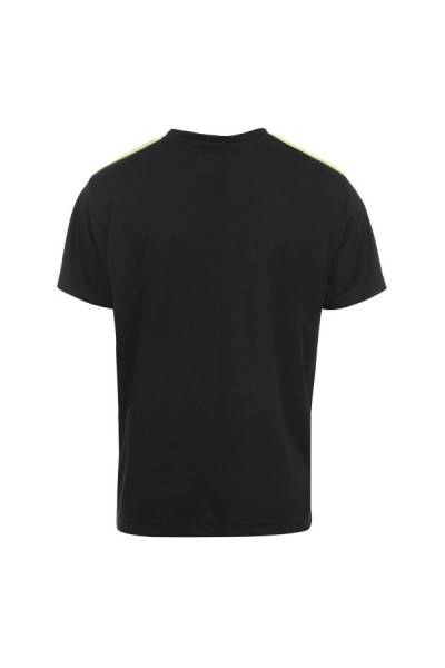 Everlast Poly T Shirt Junior Black/Lime